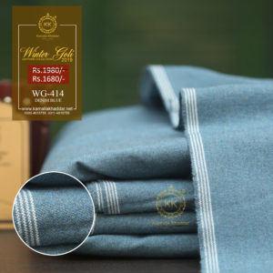 WG-414 Denim Blue Winter Double Goli Khaddar