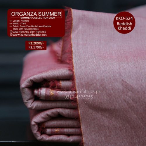 KKO-524 Reddish Khadi - Summer ROYAL ORGANZA Khaddar Suit