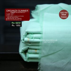 KKO-523 Mint Green Summer Khaddar 2021