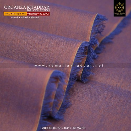 KKO-540 Purple Mix Royal Organza SUMMER Khaddar 2021